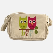 BFF Best Friends Forever Owls Messenger Bag