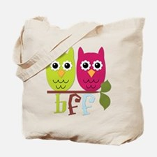 BFF Best Friends Forever Owls Tote Bag