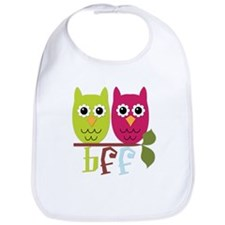 BFF Best Friends Forever Owls Bib