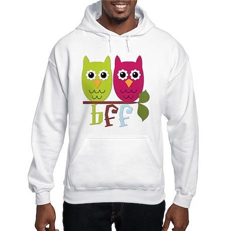 BFF Best Friends Forever Owls Hooded Sweatshirt