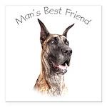 Man's Best Friend Square Car Magnet 3