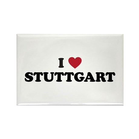I Love Stuttgart Rectangle Magnet