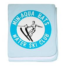 Min Aqua Bat Logo Merchandise baby blanket