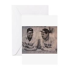 Babe Ruth Lou Gherig Greeting Card