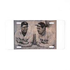 Babe Ruth Lou Gherig Aluminum License Plate