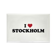 I Love Stockholm Rectangle Magnet