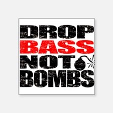 "Cute Drum and bass Square Sticker 3"" x 3"""