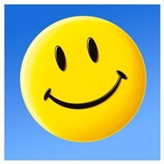 Smiley face symbol Poster
