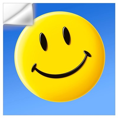 Smiley face symbol Wall Decal