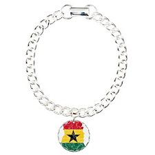 Ghana Flag And Map Charm Bracelet, One Charm