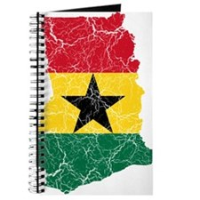 Ghana Flag And Map Journal