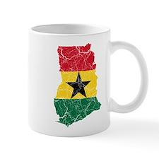 Ghana Flag And Map Mug
