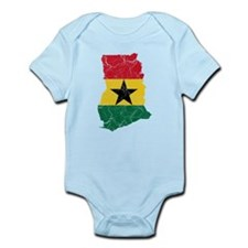 Ghana Flag And Map Infant Bodysuit