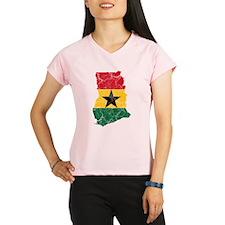 Ghana Flag And Map Performance Dry T-Shirt
