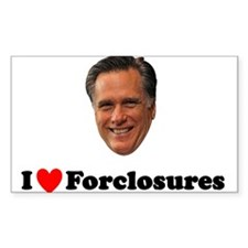 Romney Loves Foreclosures Decal
