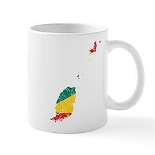 Grenada Flag And Map Mug