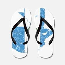 Guatemala Flag And Map Flip Flops