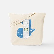 Guatemala Flag And Map Tote Bag