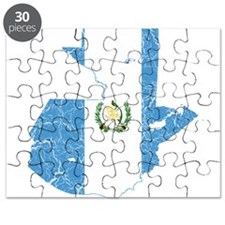 Guatemala Flag And Map Puzzle