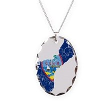 Guam Flag And Map Necklace
