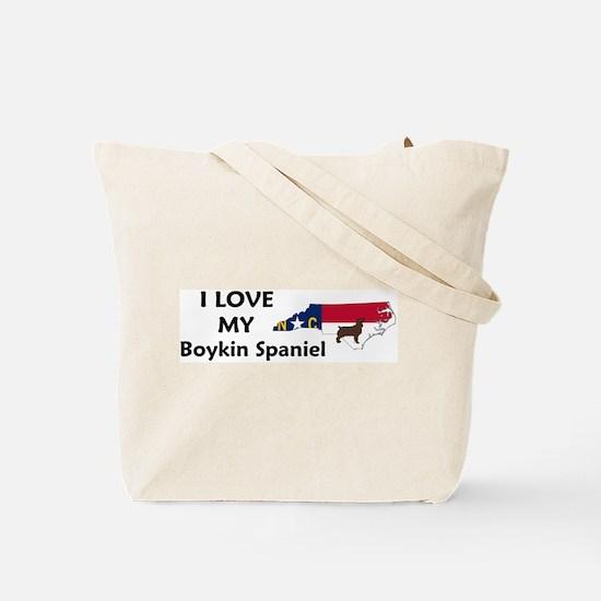 North Carolina Boykin Spaniel Tote Bag