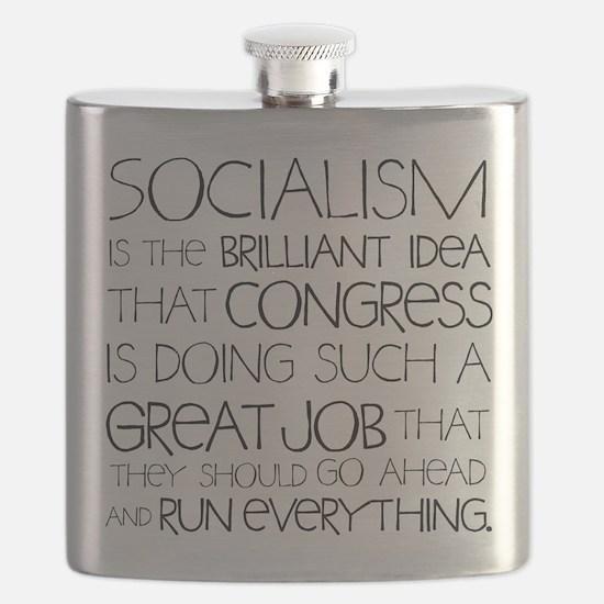Socialism Is Brilliant Flask