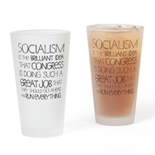 Socialism Is Brilliant Drinking Glass