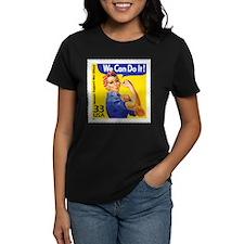 Rosie the Riveter Stamp Women's Dark T-Shirt