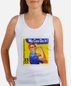 Rosie the Riveter Stamp Women's Tank Top