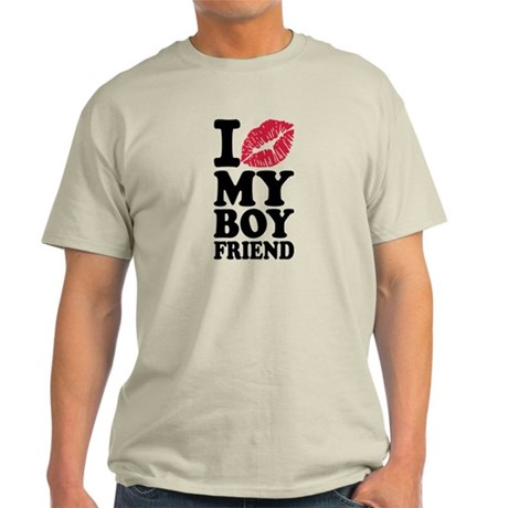I love my boyfriend kiss Light T-Shirt