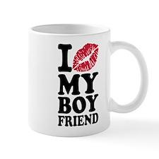 I love my boyfriend kiss Mug