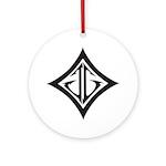 JG Diamond Black Ornament (Round)