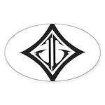 JG Diamond Black Sticker (Oval 50 pk)