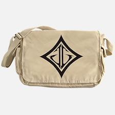 JG Diamond Black Messenger Bag