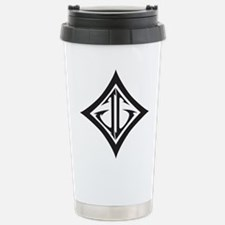 JG Diamond Black Stainless Steel Travel Mug