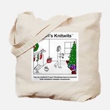 Pearl with Sweater Ornaments Tote Bag