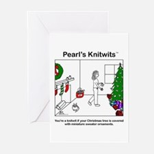 Pearl's Sweater Ornaments Blank Cards (pack of 6)