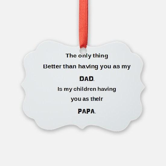 Dad / Papa Ornament