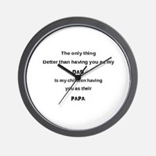 Dad / Papa Wall Clock