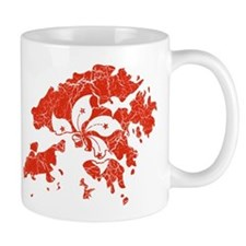 Hon Kong Flag And Map Mug