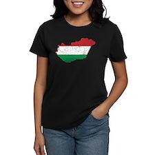 Hungary Flag And Map Tee