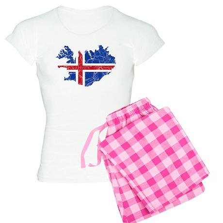 Iceland Flag And Map Women's Light Pajamas