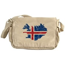Iceland Flag And Map Messenger Bag