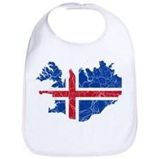 Iceland Flag And Map Bib