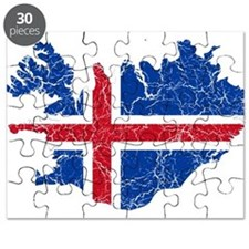 Iceland Flag And Map Puzzle