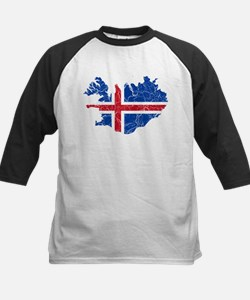 Iceland Flag And Map Tee