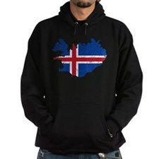 Iceland Flag And Map Hoodie