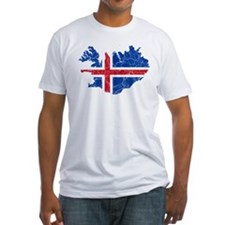 Iceland Flag And Map Shirt