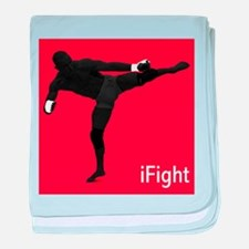iFight (red) baby blanket
