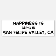 San Felipe Valley - Happiness Bumper Bumper Bumper Sticker
